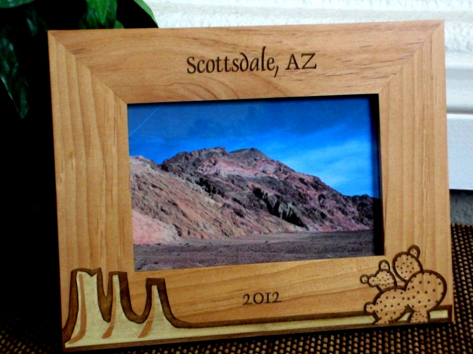 Arizona Mountain Picture Frame - Personalized Frame - Laser Engraved ...