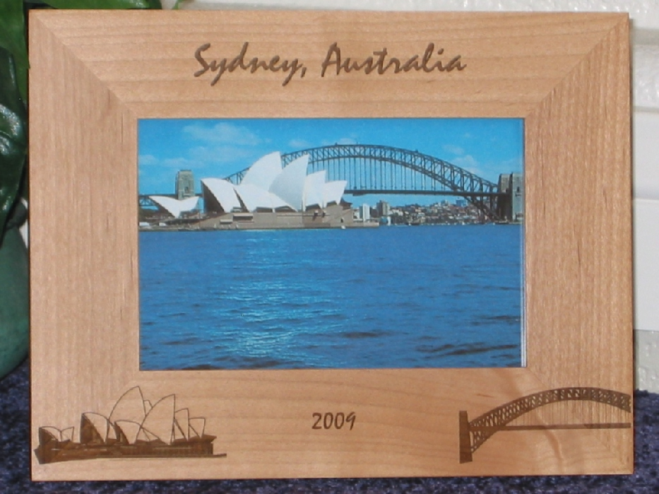 Australia Theme Picture Frame - Personalized Frame - Laser Engraved ...