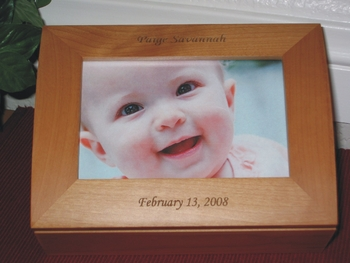 Baby Keepsake Box - Personalized Photo Box - Laser Engraved