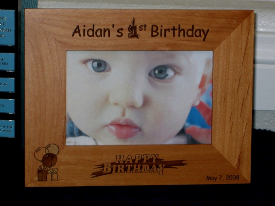 Baby\'s First Birthday Picture Frame - Personalized Frame - Laser ...
