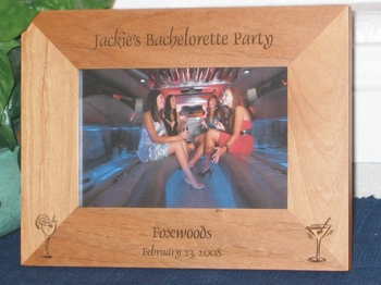 Bachelorette Party Picture Frame - Personalized Frame - Laser Engraved Party Drinks