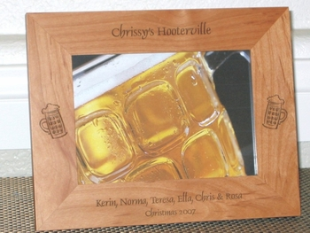 Beer Picture Frame - Personalized Frame - Laser Engraved Beer