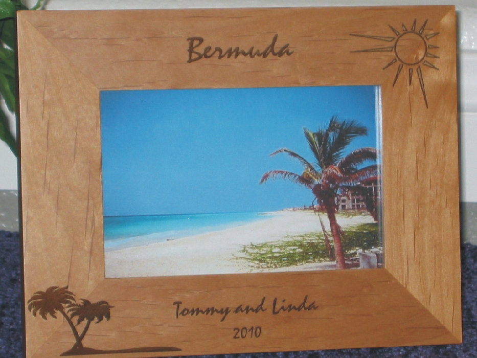 Caribbean Island Picture Frames Personalized Island Picture Frames