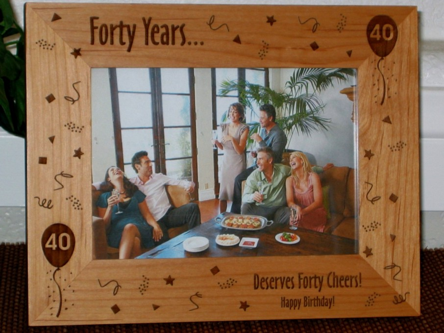 Birthday Picture Frame - Personalized Frame - Laser Engraved ...