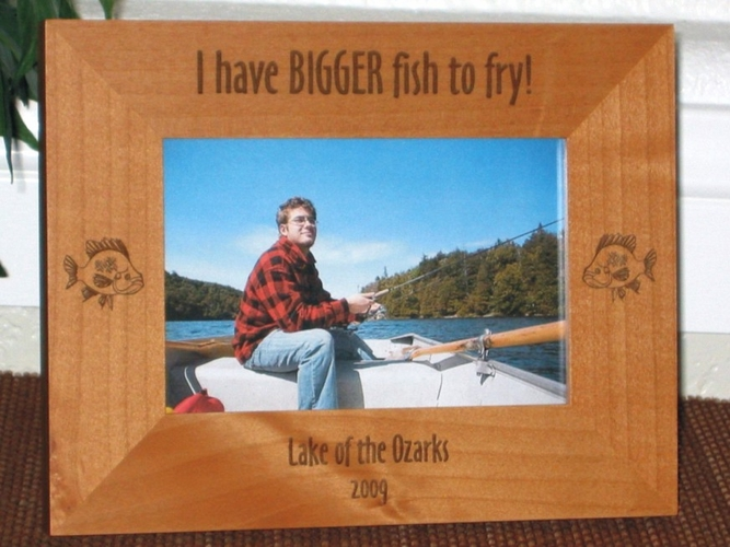 Bluegill Picture Frame - Personalized Frame - Laser Engraved Bluegill Fish
