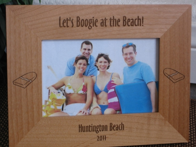 Boogie Board Picture Frame - Personalized Frame - Laser Engraved Boogie Boards