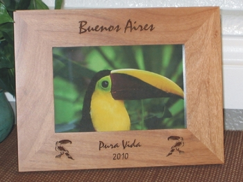 Buenos Aires Picture Frame - Personalized Frame - Laser Engraved Toucans