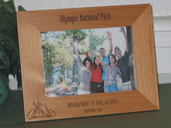 Camping Picture Frame - Personalized Frame - Laser Engraved Camping Tent