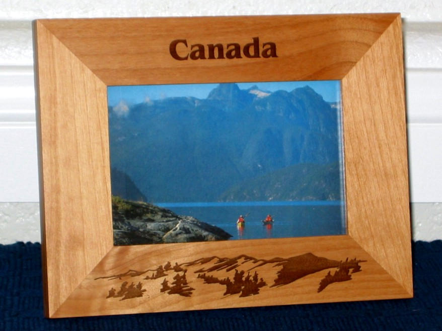 Canada Picture Frame - Personalized Souvenir Frame - Laser Engraved ...