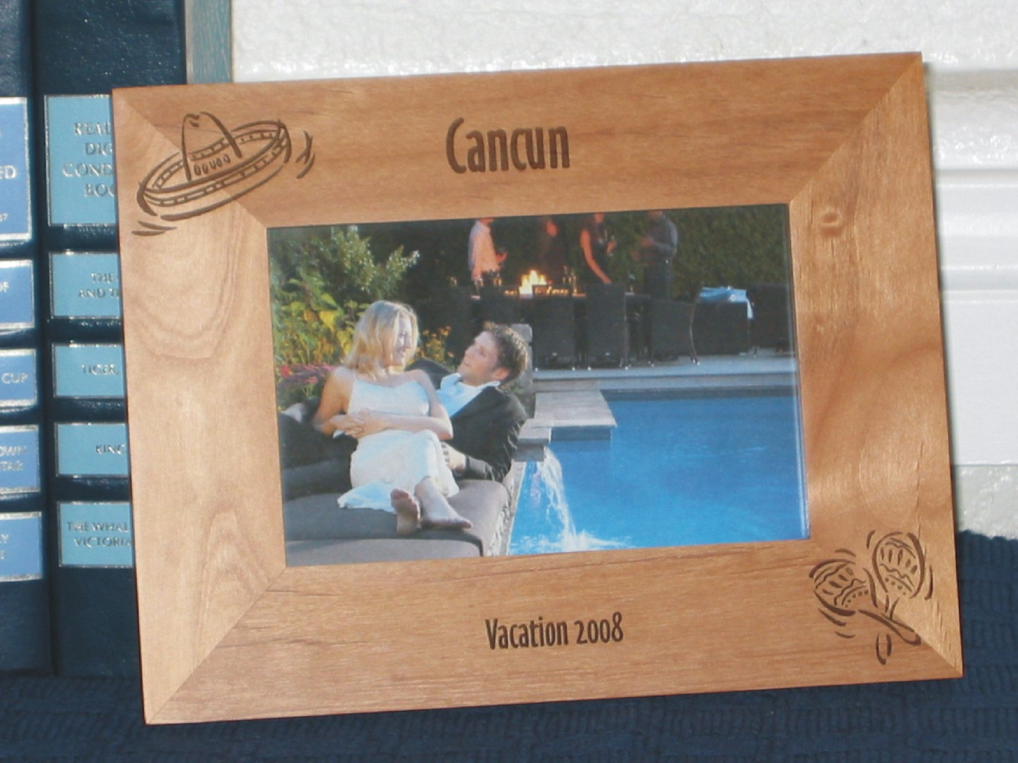 Cancun Picture Frame - Personalized Frame - Laser Engraved Sombrero ...