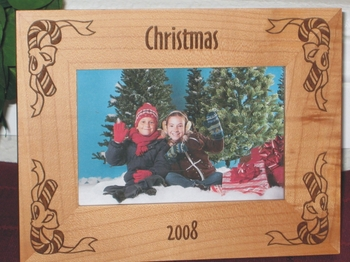 Candy Cane Picture Frame - Personalized Frame - Laser Engraved Candy Canes
