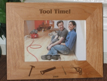 Carpenter Picture Frame - Personalized Frame - Laser Engraved Tools