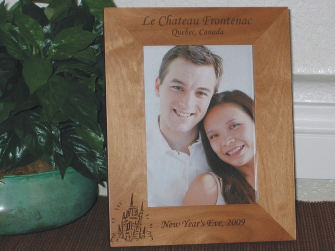 Castle Picture Frame - Personalized Frame - Laser Engraved Castle