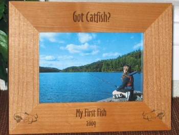 Catfish Picture Frame - Personalized Frame - Laser Engraved Catfish