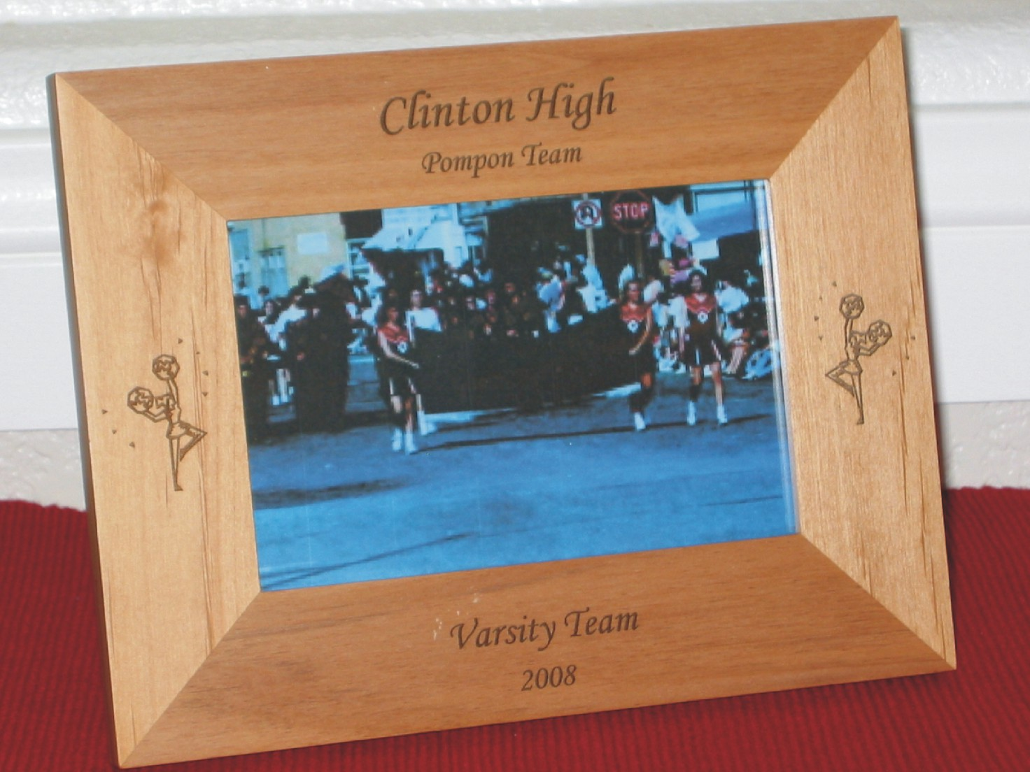 Cheerleader Picture Frame - Personalized Frame - Laser Engraved ...