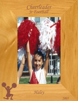Cheerleading Picture Frame - Personalized Frame - Laser Engraved Cheerleader