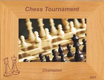 Chess Picture Frame - Personalized Frame - Laser Engraved Chess Gift