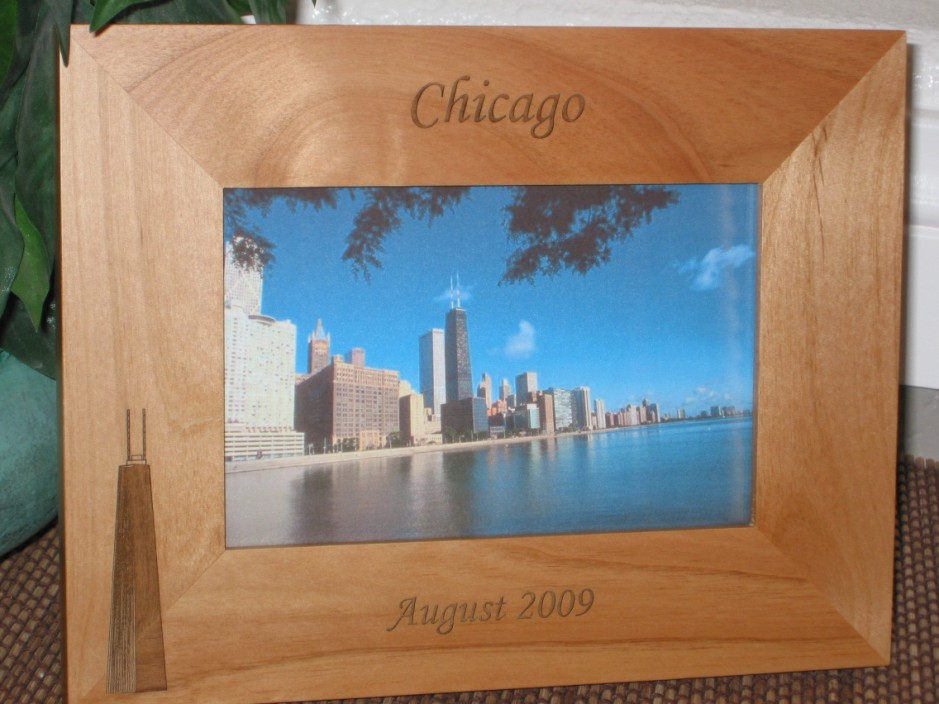 Chicago Picture Frame - Personalized Frame - Laser Engraved Hancock ...