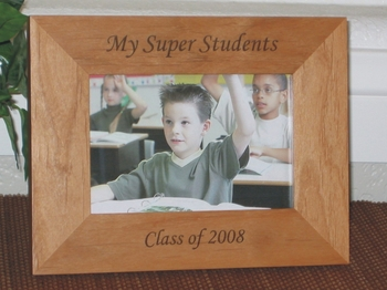 Class of 2008 Picture Frame - Personalized Frame - Laser Engraved Text