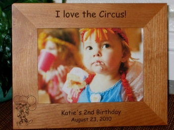 Clown Picture Frame - Personalized Frame - Laser Engraved Clown