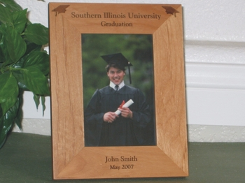 College Graduation Picture Frame - Personalized Frame - Laser Engraved Graduation Caps