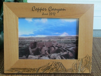 Copper Canyon Picture Frame - Personalized Frame - Laser Engraved Canyon