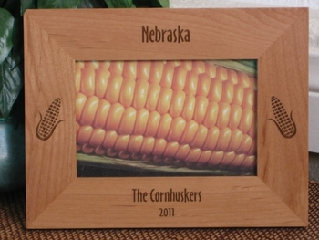 Corn Picture Frame - Personalized Frame - Laser Engraved Corn