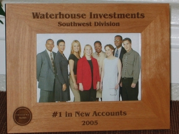 Corporate Picture Frame - Personalized Frame - Laser Engraved Corprate Award Seal