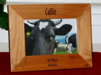 Cow Picture Frame - Personalized Frame - Laser Engraved Cow