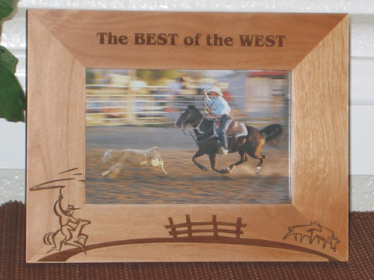 Cowboy Theme Lasso Picture Frame - Personalized Western Frame ...