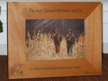 deer picture frame personalized hunting frame laser engraved doe pines - Engraved Picture Frame