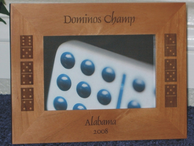 Domino Picture Frame - Personalized Picture Frame - Laser Engraved Dominos
