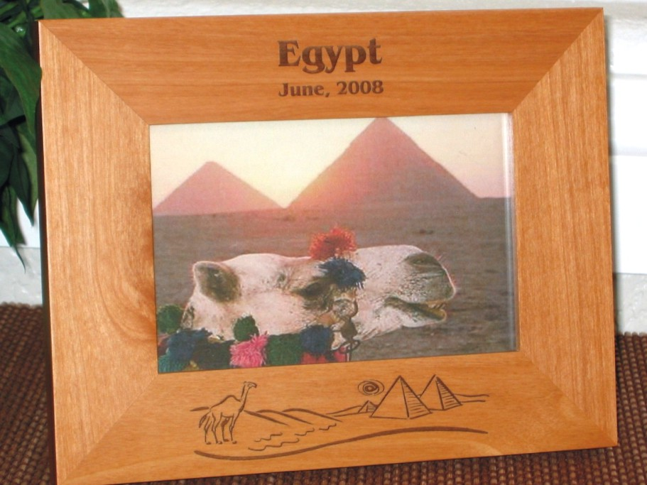 Egyptian Picture Frames - Personalized Frame - Laser Engraved Egypt ...