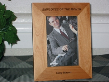 Employee of the Month Souvenir - Personalized Picture Frame - Employee Award