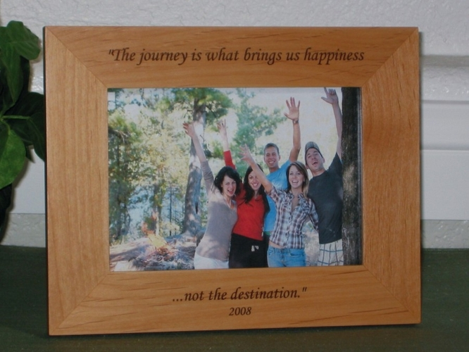 Engraved Picture Frame - Personalized Frame - Laser Engraved Text