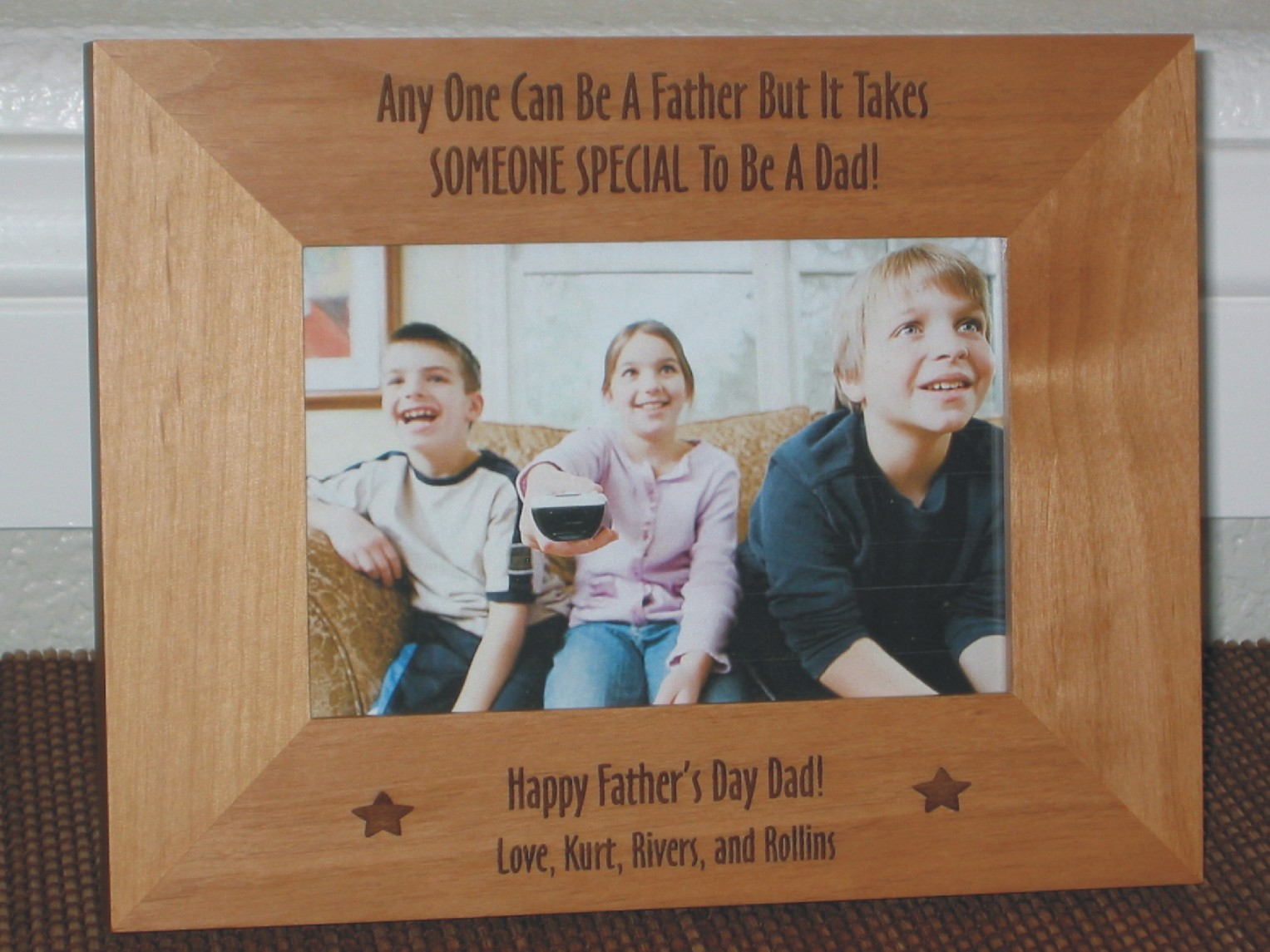 Fathers Day Picture Frame Personalized Frame Laser Engraved