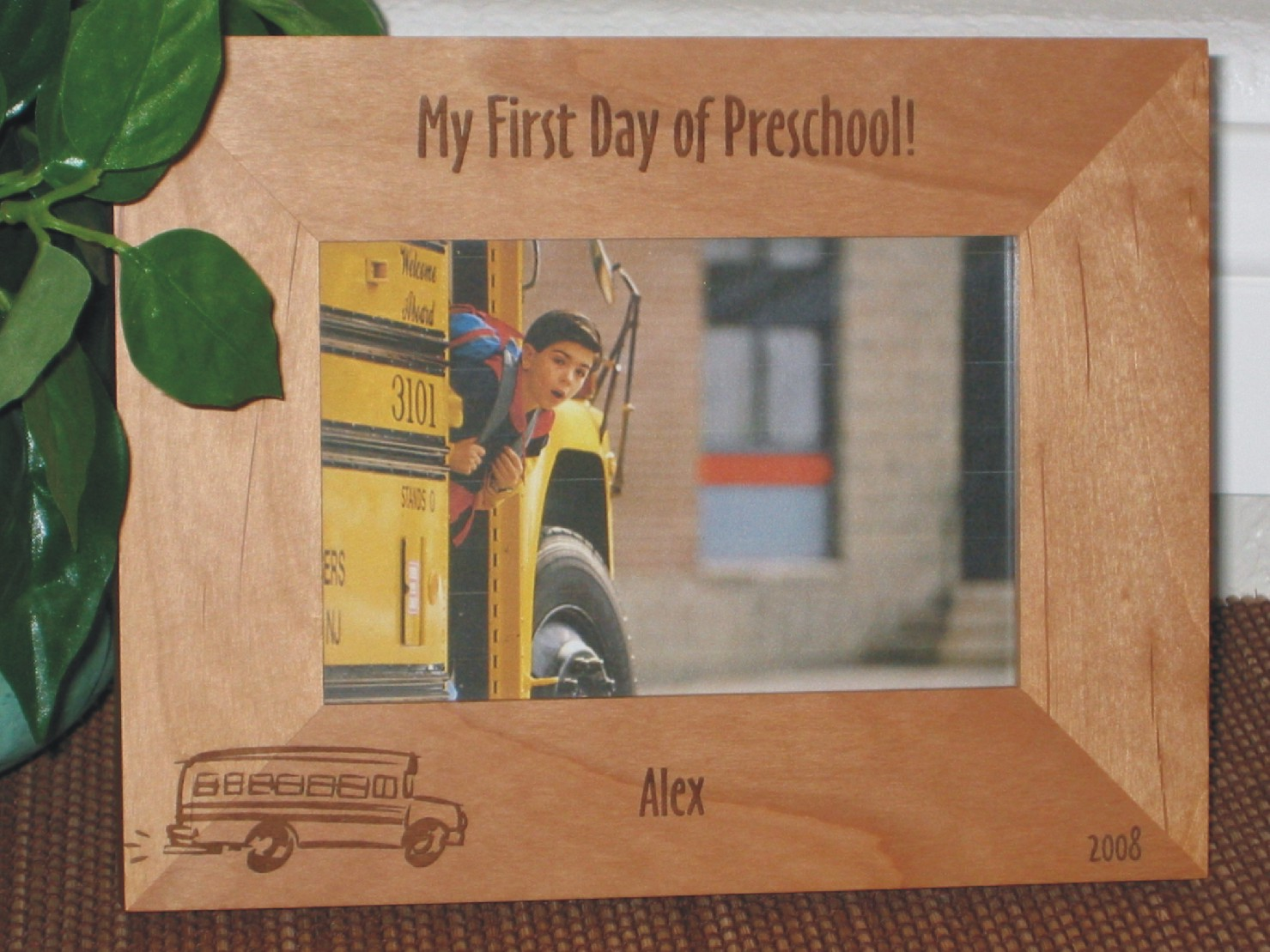 First Day School Picture Frame Personalized Frame Laser Engraved