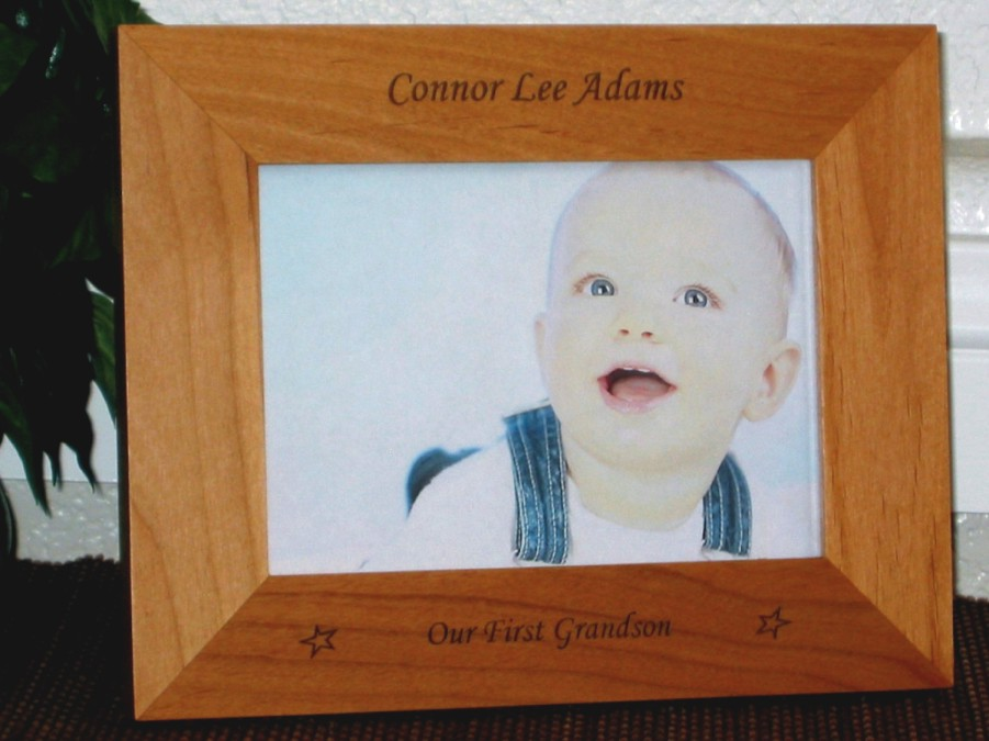 First Grandchild Picture Frame - Personalized Baby Frame - Laser ...