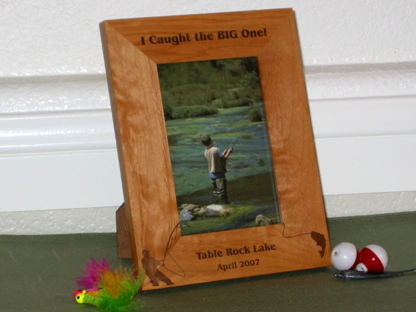 fishing picture frames personalized fishing picture frames