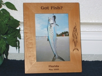 Fishing Trip Picture Frame - Personalized Frame - Laser Engraved Fish