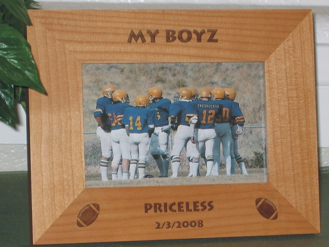Football Picture Frame - Personalized Coach Frame - Laser Engraved Football Gift
