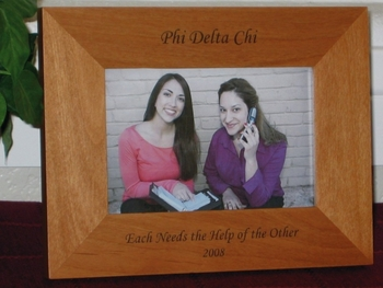 Fraternity Sorority Picture Frame - Personalized Frame - Laser Engraved Text