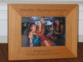Friendship Pictuer Frame - Personalized Frame - Laser Engraved Text