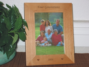 Generations Picture Frame - Personalized Frame - Laser Engrave 3 - 5 Generations