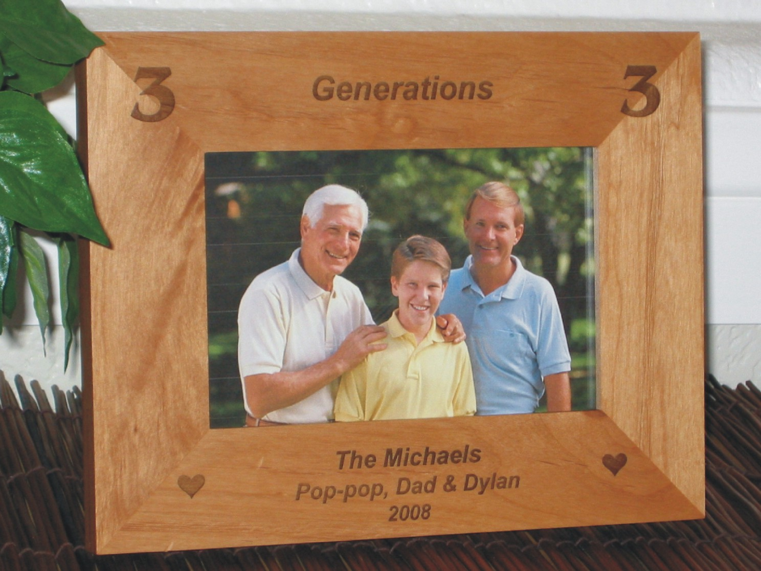 Generations Picture Frame - Personalized Frame - Laser Engraved 2 ...