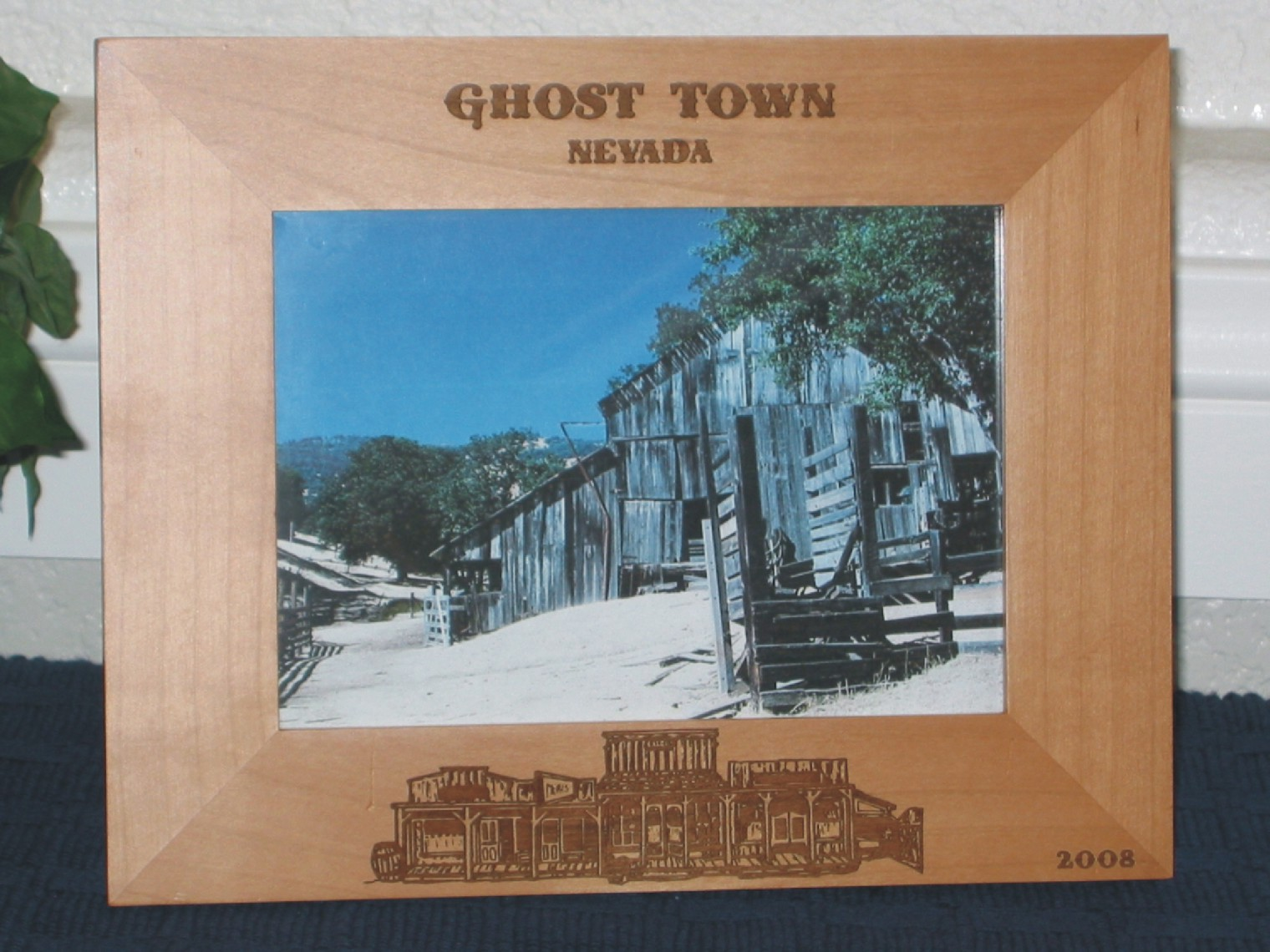 Ghost Town Picture Frame - Personalized Western Frame - Laser ...