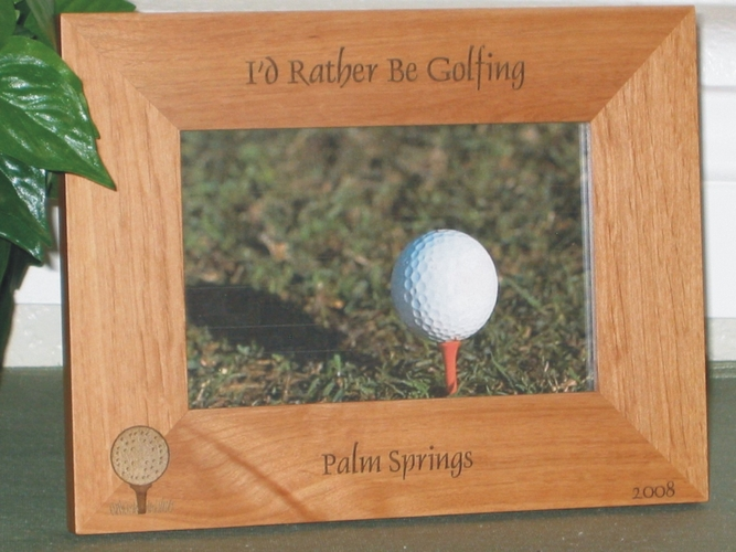 Golf Ball Picture Frame - Personalized Frame - Laser Engraved Golf Ball