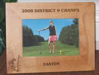 Golfer Picture Frame - Personalized Frame - Laser Engraved Female Golfer