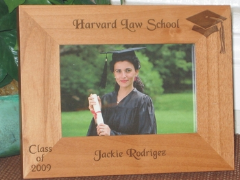 Graduation 2010 Picture Frame - Personalized Frame - Laser Engraved Graduation Hat & Class of 2010