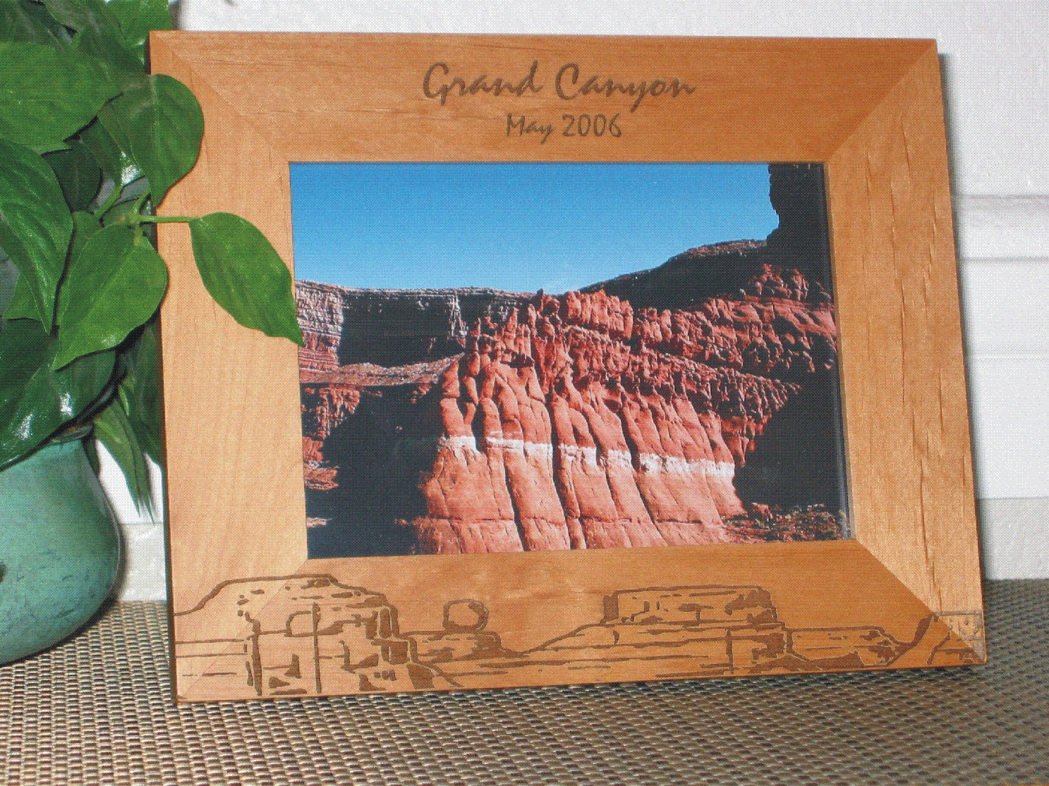 Grand Canyon Picture Frame - Personalized Frame - Laser Engraved Canyon